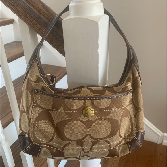 Coach canvas shoulder bag